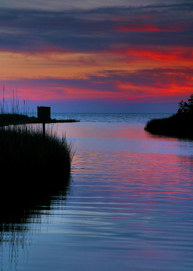 Pamlico Sound Sunset Photograph  - Pamlico Sound Sunset Fine Art Print
