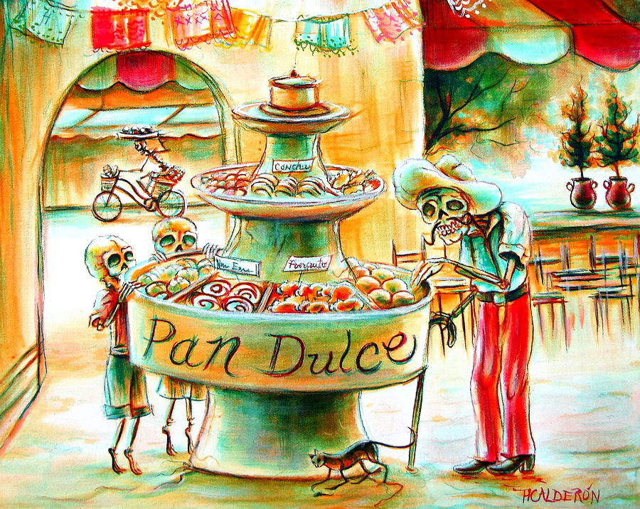 Day Of The Dead Painting - Pan Dulce by Heather Calderon