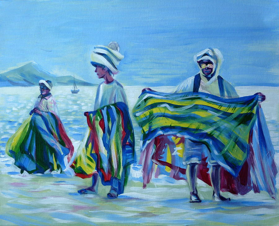 Panama.beach Market Painting