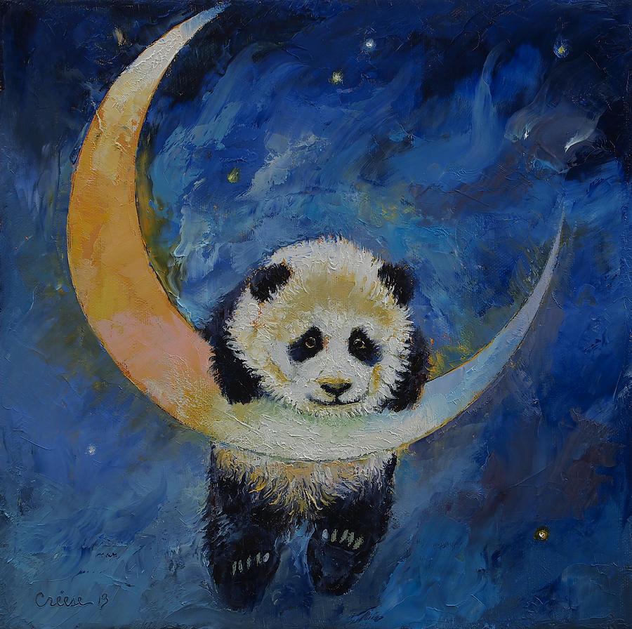 Panda Oil Painting