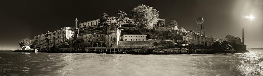 Panorama Alcatraz Up Close Photograph  - Panorama Alcatraz Up Close Fine Art Print