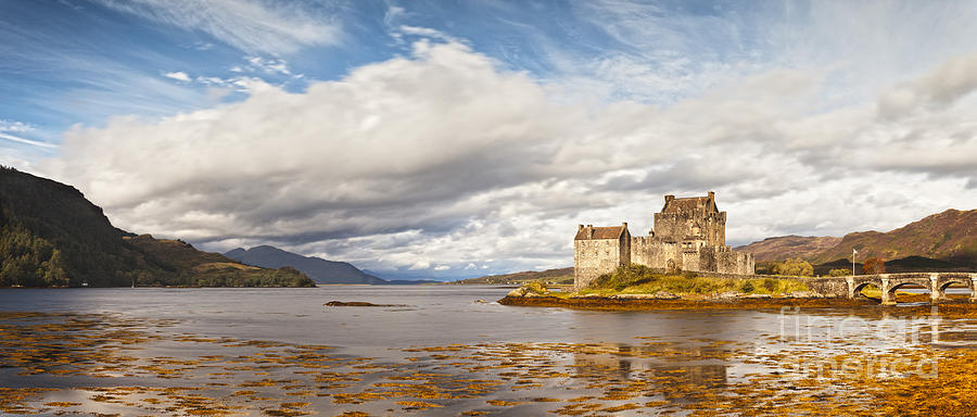 Eilean Donan Photograph - Panorama Of Eilean Donan Castle Scotland by Colin and Linda McKie