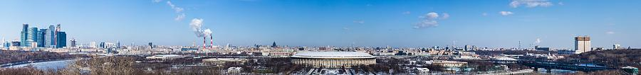 Panorama Of Moscow From Sparrow Hills - Featured 3 Photograph  - Panorama Of Moscow From Sparrow Hills - Featured 3 Fine Art Print