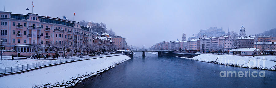Panorama Of Salzburg In The Winter Photograph