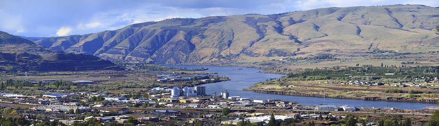 Panorama Of The Dalles Oregon. Photograph