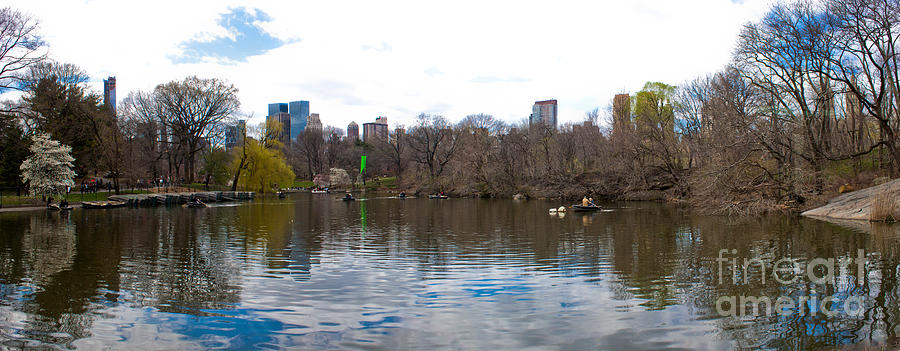 Panorama Of The Lake Of Central Park New York City Photograph