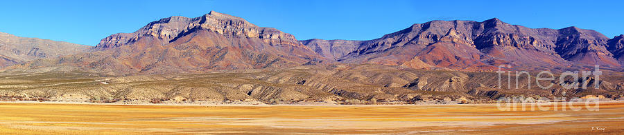 Panorama Sierra Caballo Mountains And Dry Lake Bed Photograph
