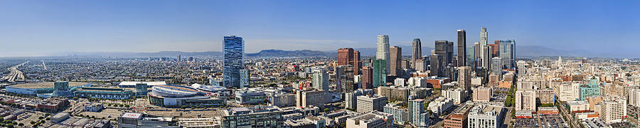 Panoramic los angeles photograph by kelley king - Panoramic les angles ...