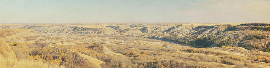 Panoramic Of The Badlands Of The Red Photograph