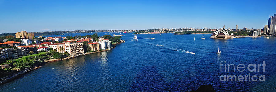 Panoramic Sydney Harbour Photograph