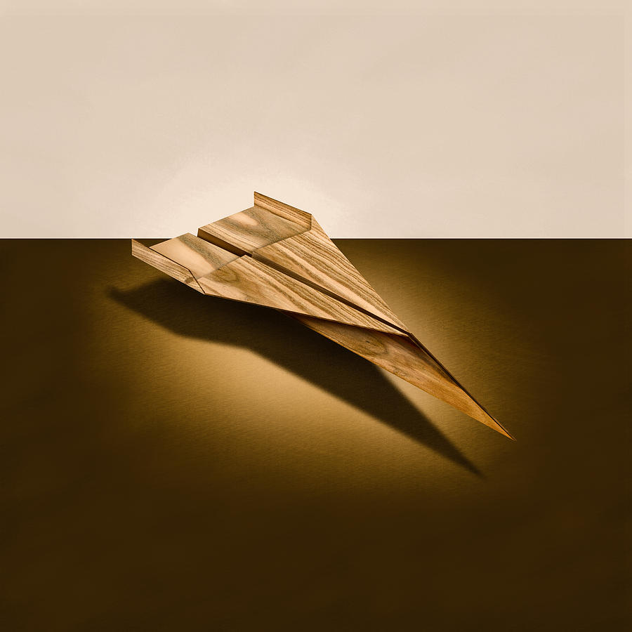 Paper Airplanes Of Wood 3 Photograph