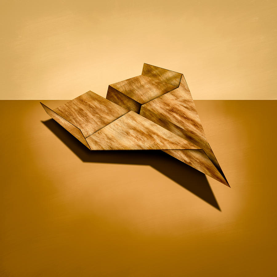 Paper Airplanes Of Wood 5 Photograph