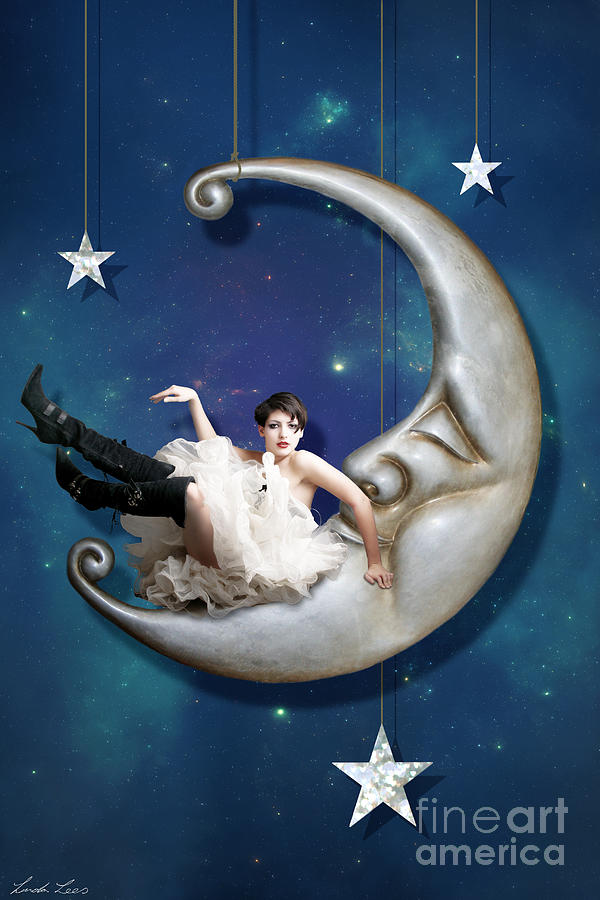 Paper Moon Digital Art  - Paper Moon Fine Art Print