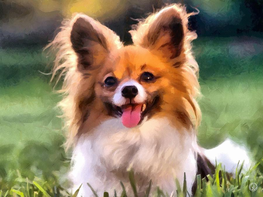 Papillon Digital Art  - Papillon Fine Art Print
