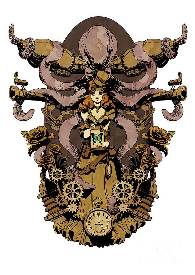 Papillon Mecaniques is a piece of digital artwork by Brian Kesinger ...