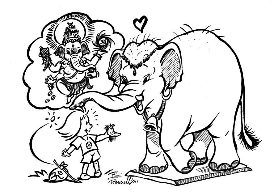 Papui And Ganesh Drawing