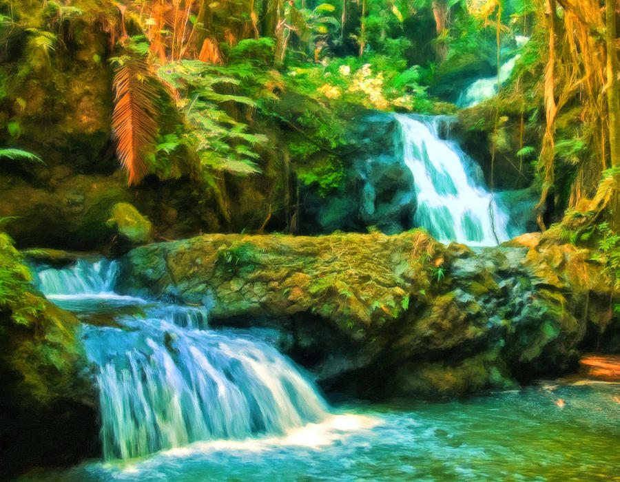 Tropical Painting - Paradise Found by Michael Pickett