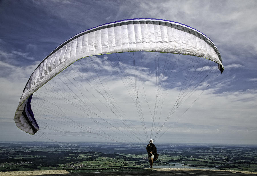 Paragliding Photograph - Paragliding  by Joanna Madloch
