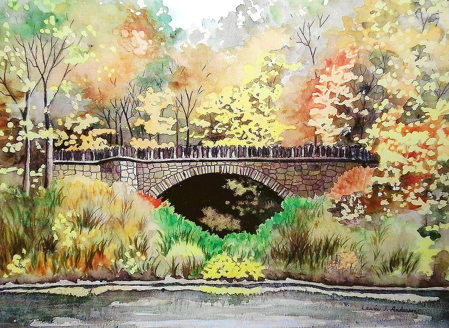 Parapet Bridge - Mill Creek Park Painting