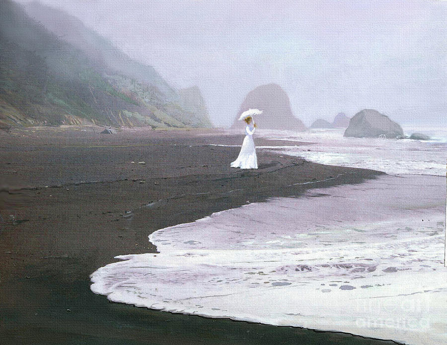 Lady Painting - Parasol Beach by Robert Foster