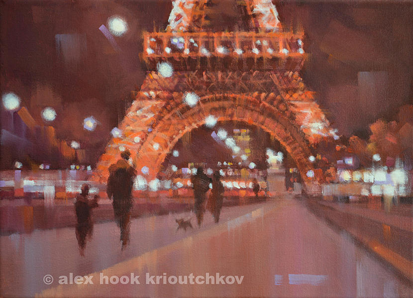 Paris At Night Iv Painting