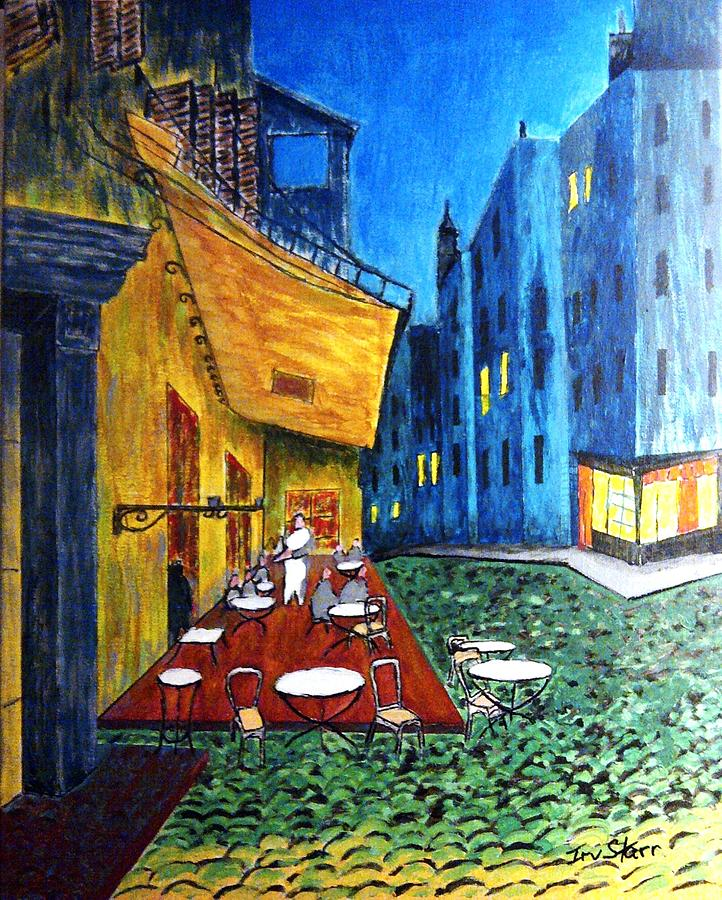 Paris Cafe Painting