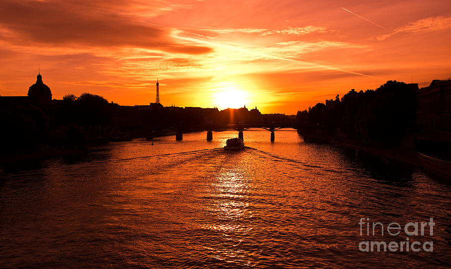 Paris Eiffel Tower Sunset is a photograph by Phill Petrovic which was ...
