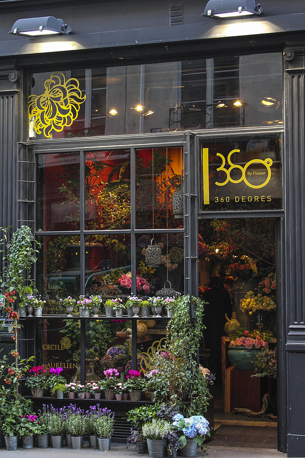 Paris Flower Shop Photograph  - Paris Flower Shop Fine Art Print