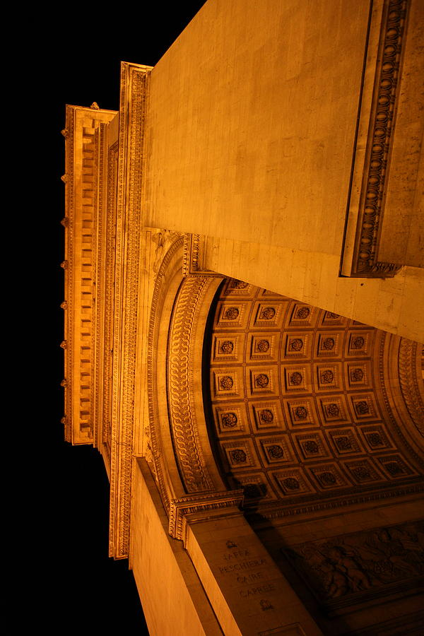 Paris France - Arc De Triomphe - 01132 Photograph  - Paris France - Arc De Triomphe - 01132 Fine Art Print