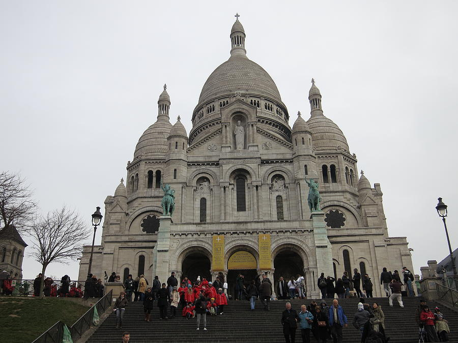 Paris France - Basilica Of The Sacred Heart - Sacre Coeur - 12127 Photograph  - Paris France - Basilica Of The Sacred Heart - Sacre Coeur - 12127 Fine Art Print