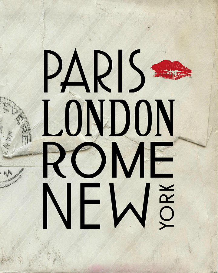 Paris London Rome And New York Digital Art  - Paris London Rome And New York Fine Art Print