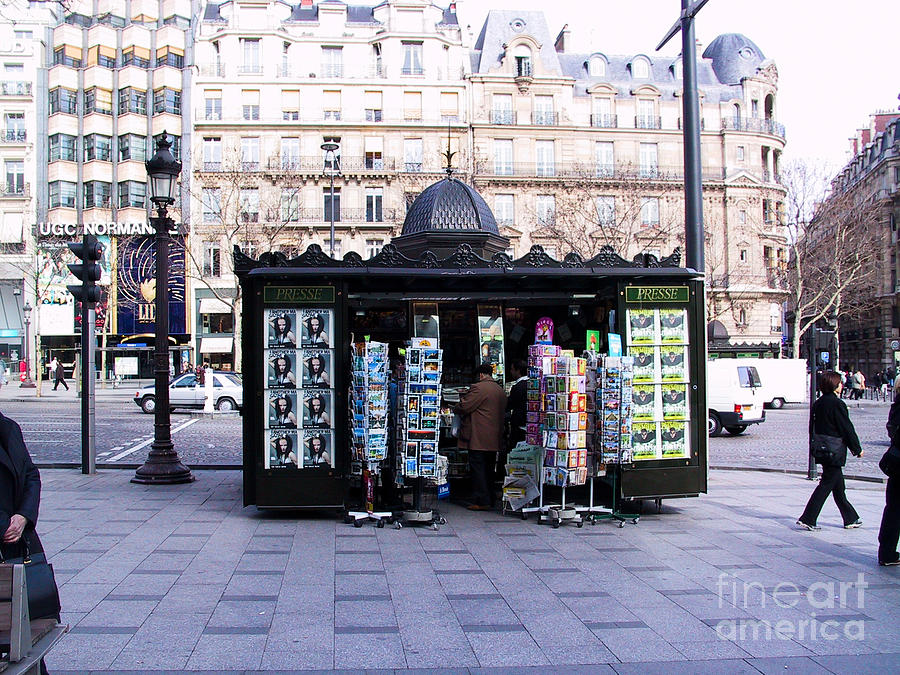 Paris Magazine Kiosk Photograph  - Paris Magazine Kiosk Fine Art Print