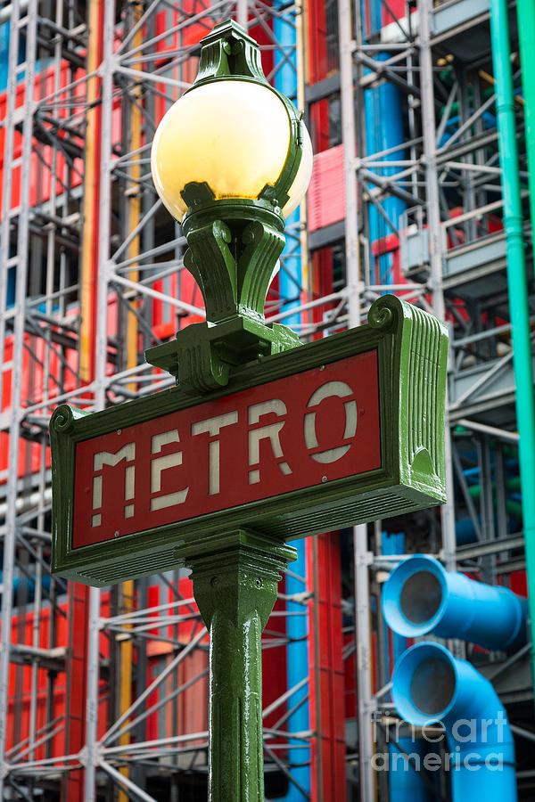 Paris Metro Photograph