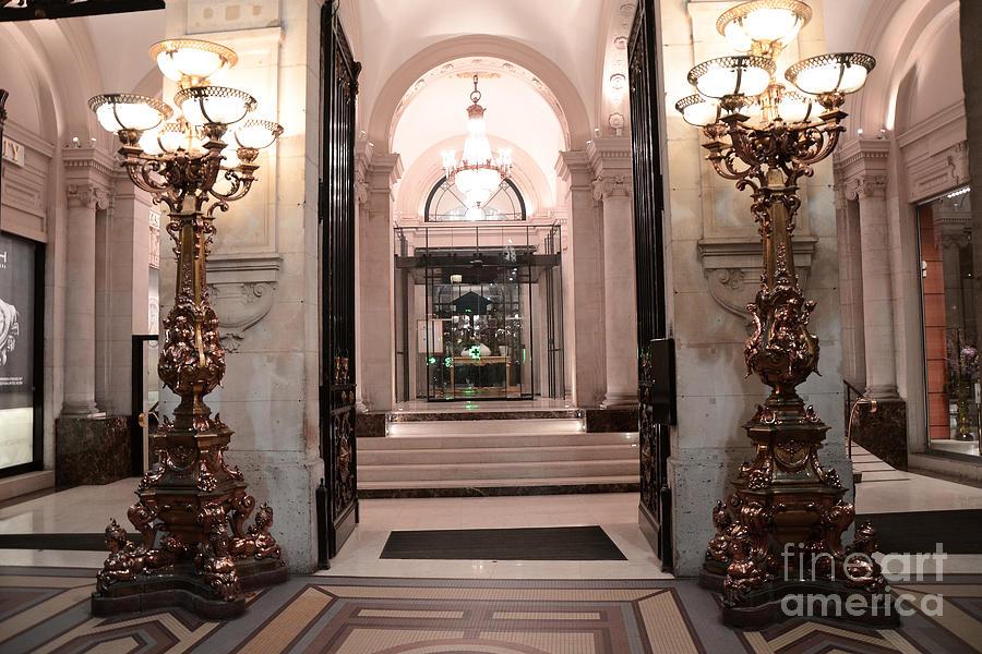 Paris romantic hotel interior elegant posh lanterns lamps art deco architectu - Hotel art deco paris ...