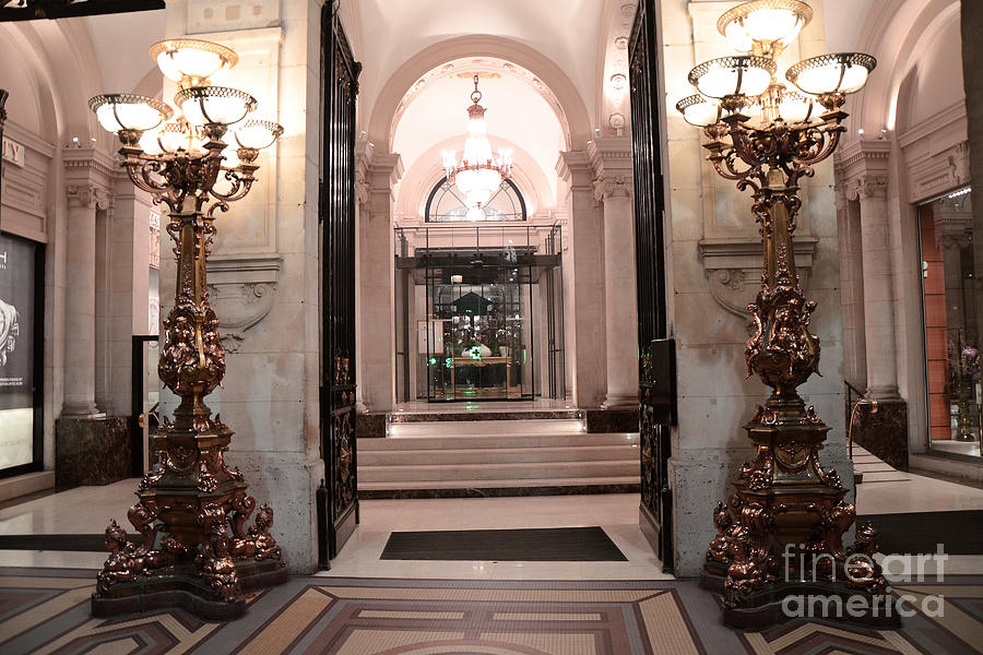 paris romantic hotel interior elegant posh lanterns lamps art deco architecture photograph by. Black Bedroom Furniture Sets. Home Design Ideas