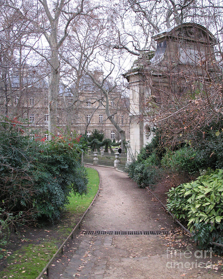 Paris Romantic Parks - Luxembourg Gardens - Medici Fountain Park - Pathway To Luxembourg Gardens Photograph