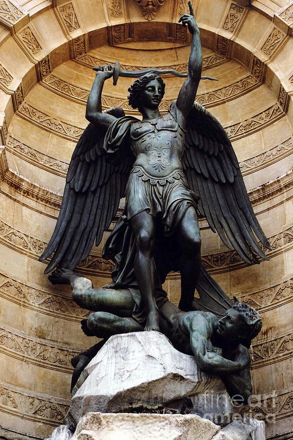 Angel Art Photograph - Paris-saint Michael Archangel Statue Monument ...