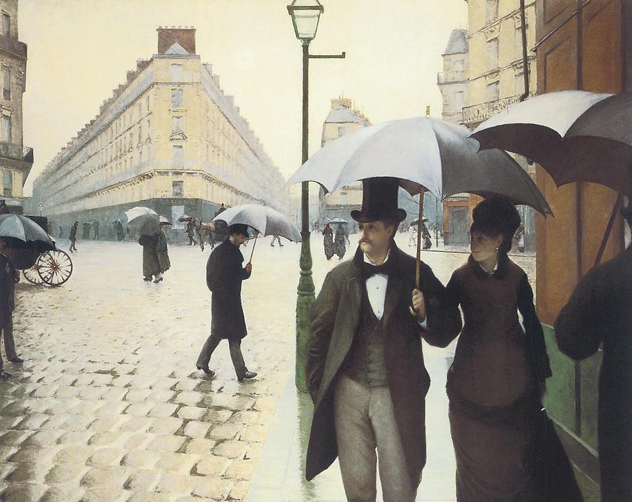 Paris The Place De Leurope On A Rainy Day Painting