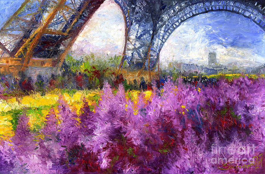 Paris Tour Eiffel 01 Painting  - Paris Tour Eiffel 01 Fine Art Print