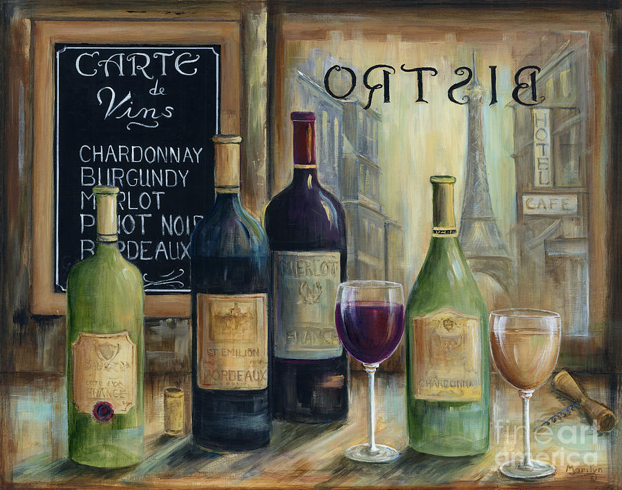 Paris Painting - Paris Wine Tasting by Marilyn Dunlap