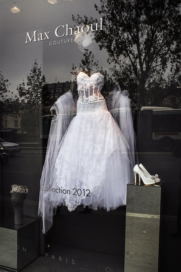 Parisian Wedding Dress Photograph