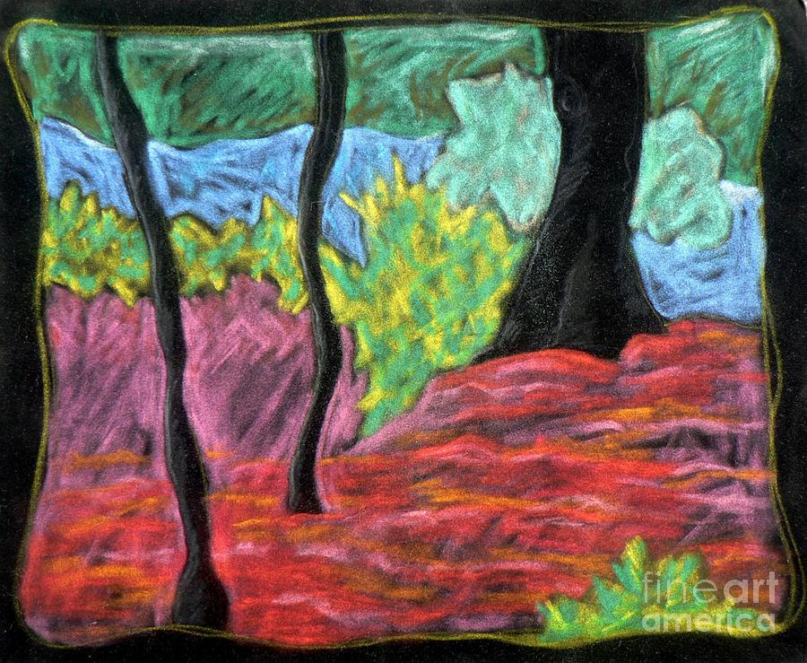 Landscape Pastel - Park Landscape by Elizabeth Fontaine-Barr