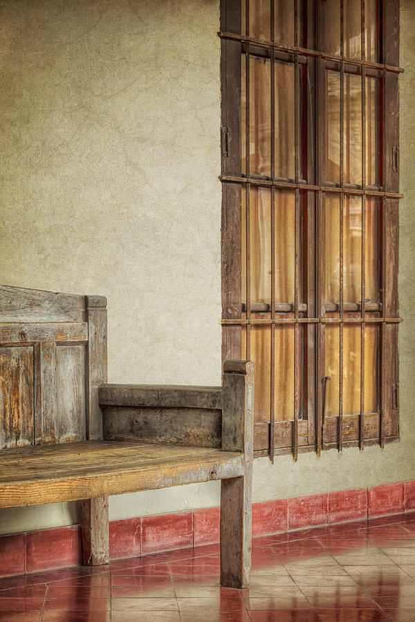Alone Photograph - Part Of A Bench by Joan Carroll