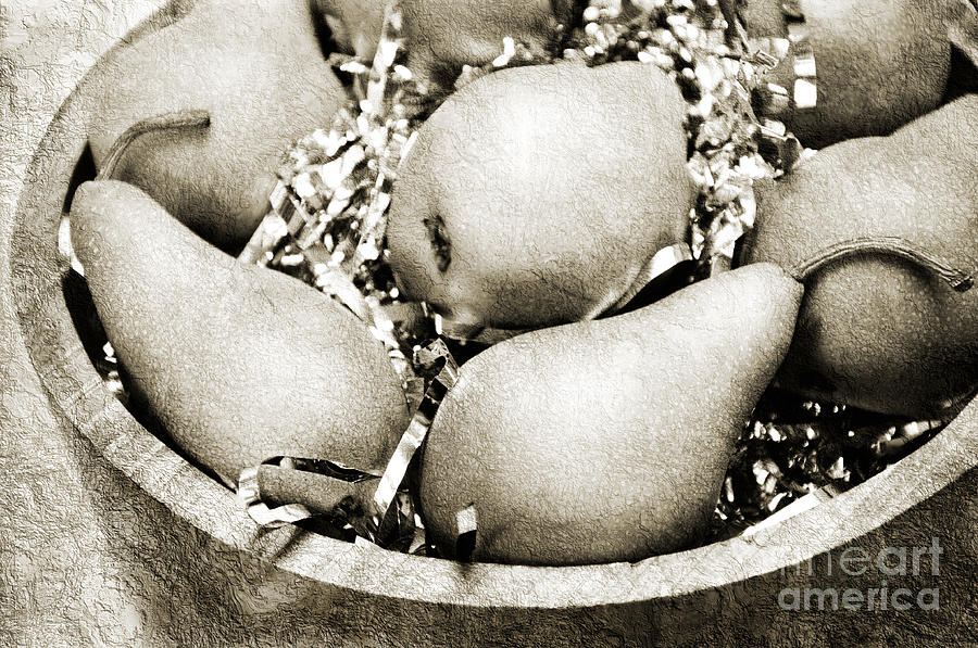 Party Pears Bw Photograph  - Party Pears Bw Fine Art Print