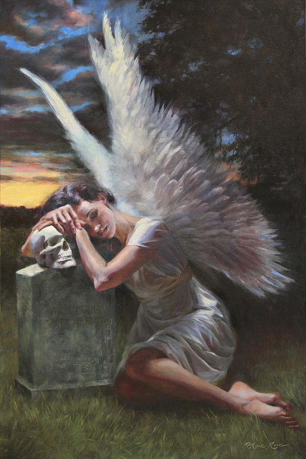 Angel Painting - Passage by Anna Rose Bain