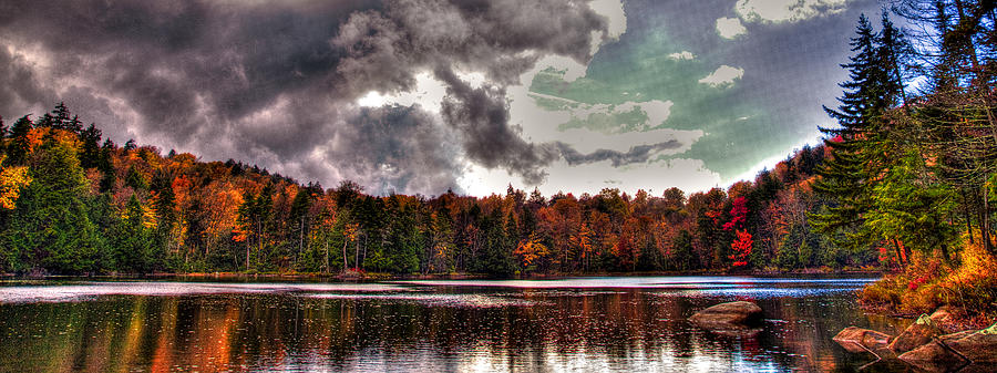 Adirondack's Photograph - Passing Storm Over Cary Lake by David Patterson