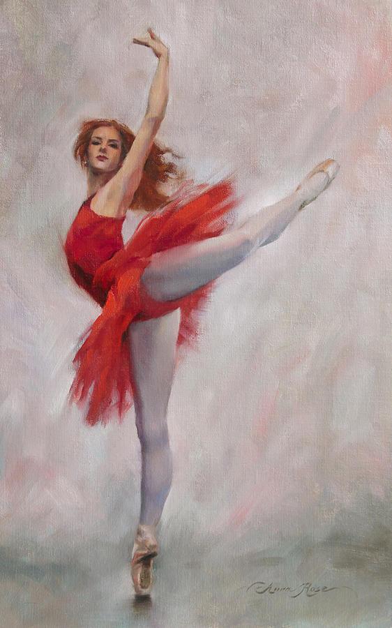 Девушка танцует рисунок