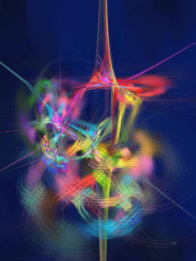 Passion Nectar - Circling The Flower Of Paradise Digital Art