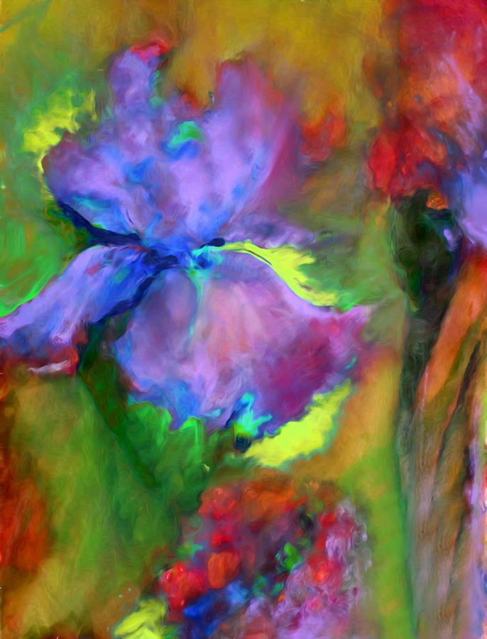 Passionate Garden - Abstract Painting  - Passionate Garden - Abstract Fine Art Print
