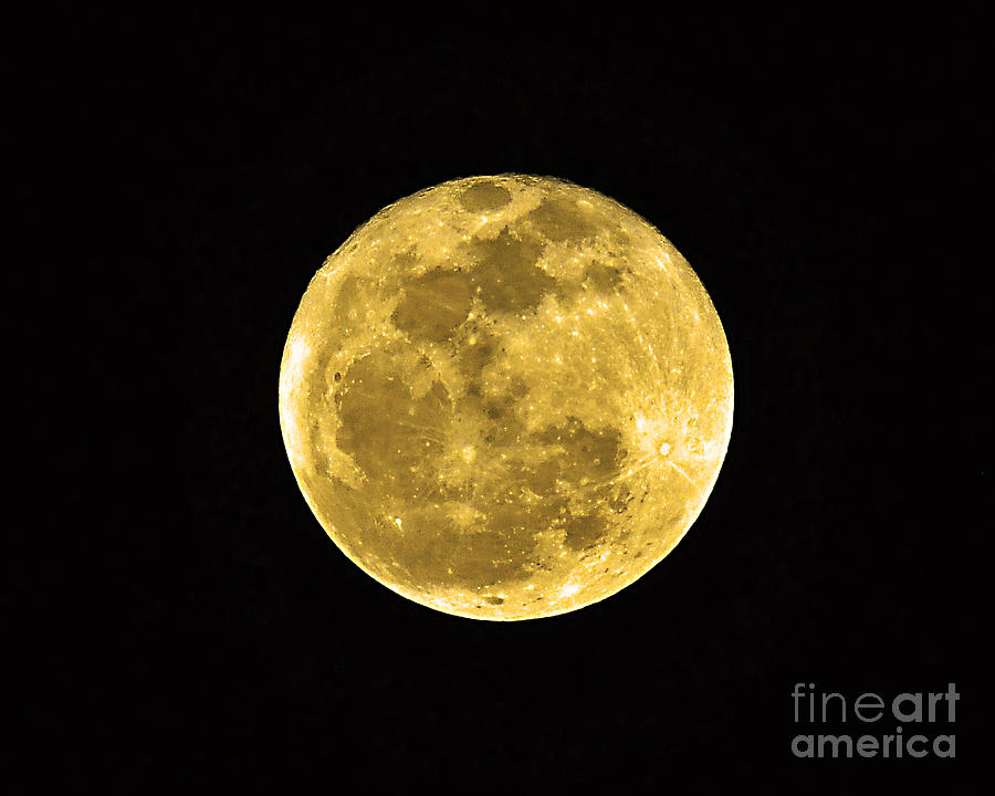 Passover Full Moon Photograph